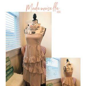 Creamy flowy dress